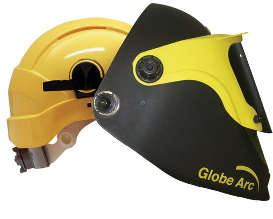 Globe Arc with Concept Hard Hat