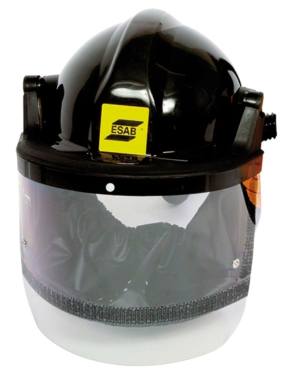Grinding and spraying helmet for Air